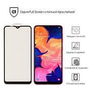 Защитное стекло (захисне скло) Samsung A10 2019 (A105)/M10 2019 (M105) Black(Полный клей)