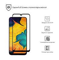 Защитное стекло для Samsung A30 2019 (A305)/A50 2019 (A505) Black(Полный клей)