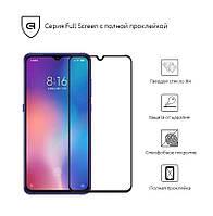 Защитное стекло (захисне скло) Xiaomi Mi 9 Black(Полный клей)
