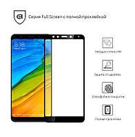 Защитное стекло для Xiaomi Redmi 5 Plus Black(Полный клей)