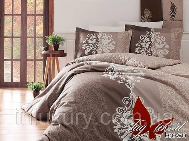Комплект постельного белья R7427 brown, фото 2