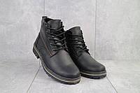 Ботинки мужские Yuves 444 черные-матовые (натуральная кожа, зима)