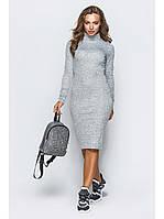 Платье гольф удлиненное осеннее до 54 размера