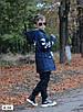 Парку джинсова дитяча на хутрі з капюшоном (хлопчик, дівчинка) 128,134,140,146,152, фото 2