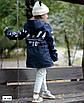 Парку джинсова дитяча на хутрі з капюшоном (хлопчик, дівчинка) 128,134,140,146,152, фото 3