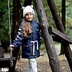 Парку джинсова дитяча на хутрі з капюшоном (хлопчик, дівчинка) 128,134,140,146,152, фото 4