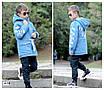 Парку джинсова дитяча на хутрі з капюшоном (хлопчик, дівчинка) 128,134,140,146,152, фото 5
