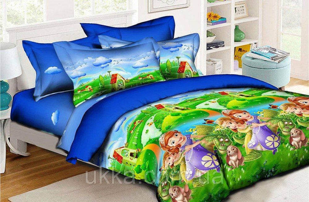 Детское постельное белье полуторное София и дракон