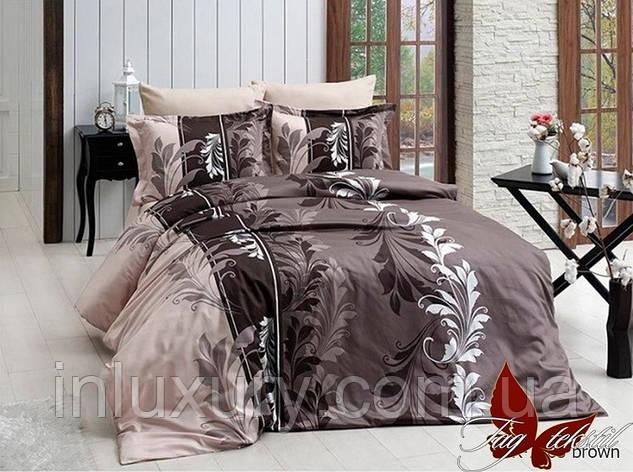 Комплект постельного белья R7085 brown, фото 2