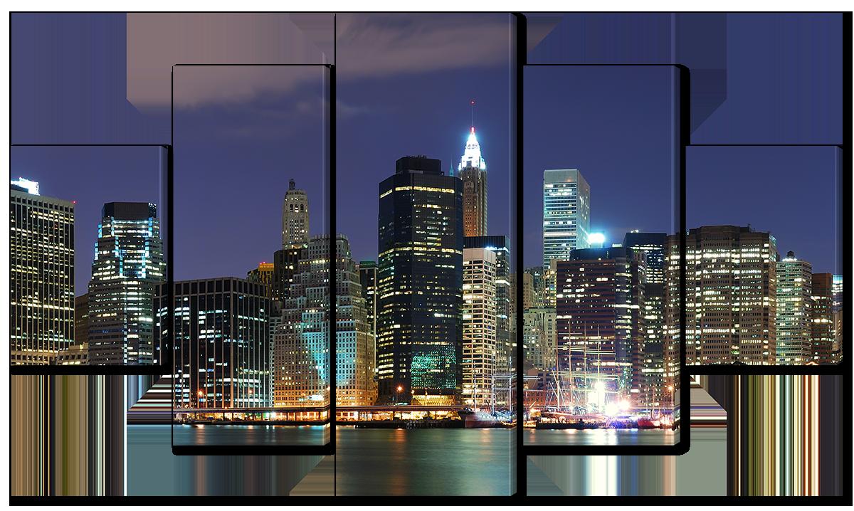 Модульная картина Interno Высотки Нью-Йорка 108х60см (R4512S)