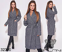 Пальто женское демисезонное / кашемир иск. / Украина 9-669
