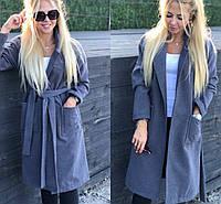 Кашемировое пальто с поясом 20267