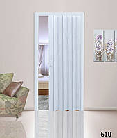 Дверь-гармошка глухая. Цвет: берёза  №610 2030мм/1000мм/6мм