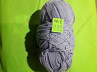 Нитки для вязания серые