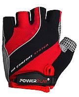 Велоперчатки PowerPlay S Красные (5023MEN_S_Red)