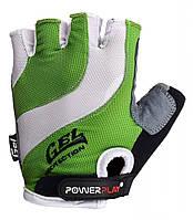 Велоперчатки PowerPlay XS Бело-зеленые (5034C_XS_Green)