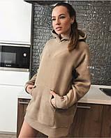 Платье с капюшоном / велюр на дайвинге / Украина 27-270, фото 1