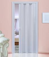 Дверь-гармошка глухая. №822. Цвет: белый 2030мм/810мм/1мм