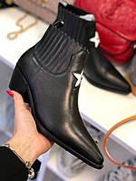 Шикарные женские ботинки Christian Dior казаки (реплика), фото 1