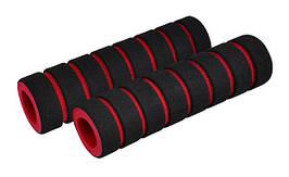 Ручки керма Longus FUOMY чорний/червоний