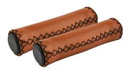 Ручки керма Longus SKIN під шкіру,коричневийев