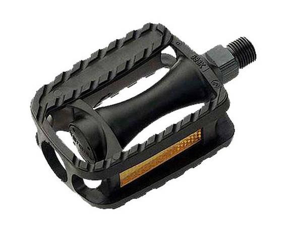"""Педалі Longus MTB пластик, дитячі, 1/2"""" вісь, чорний, світловідбивачі, фото 2"""