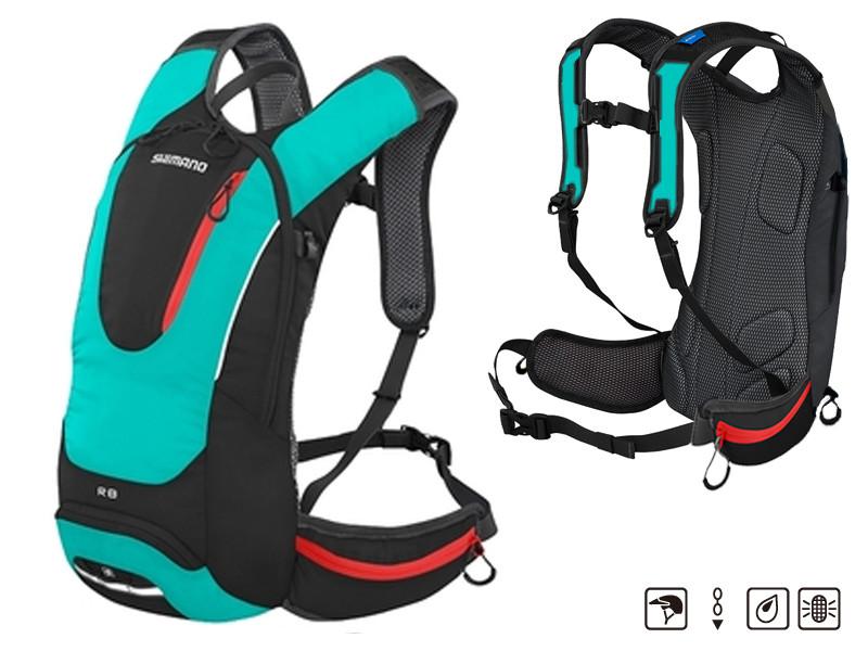 Рюкзак SHIMANO ROKKO 8L, чорно-зелений