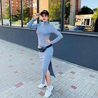 Дизайнерское женское платье голубое из тёплого трикотажа  от ANDRE TAN: L