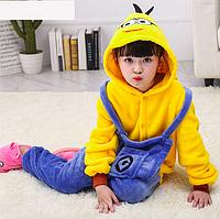 Пижама миньон детская кигуруми Желтый 122 см