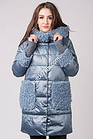 Зимняя куртка с мехом козлика 9196, фото 1