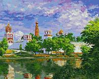 Картина по номерам Белоснежка Новодевичий монастырь 40х50 см RN 379, КОД: 1058893