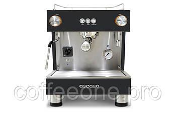 ASCASO Bar One 1 Group, Профессиональная кофемашина эспрессо автомат для молотого кофе (черный и сталь; 5 л)