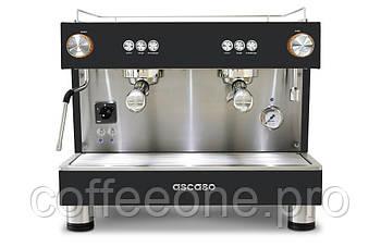 ASCASO Bar One 2 Groups, Профессиональная кофемашина эспрессо автомат для молотого кофе (черный и сталь; 10 л)