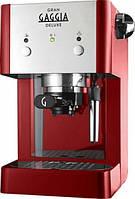 GAGGIA Gran De Luxe red, Рожковая кофемашина для дома или офиса, 1 л