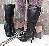 Сапоги женские на каблуке Деми 3271