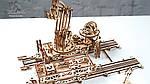 Манипулятор на Рельсах | UGEARS | Механический 3D конструктор из дерева, фото 7