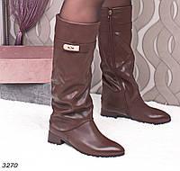 Сапоги женские коричневые Деми 3270