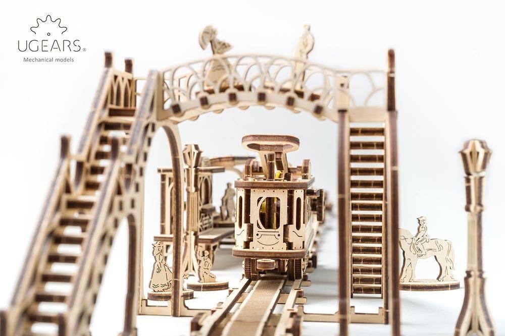 Трамвайная Линия | UGEARS | Механический 3D конструктор из дерева