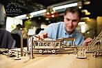 Трамвайная Линия | UGEARS | Механический 3D конструктор из дерева, фото 3