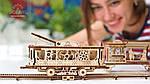 Трамвайная Линия | UGEARS | Механический 3D конструктор из дерева, фото 4