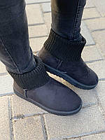 Угги носок женские зимние черные оптом, фото 1