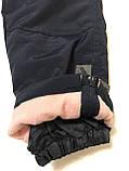 Лыжные штаны-полукомбинезон р.98 (синие и розовые), фото 6