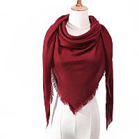 Женский шерстяной платок палантин ViPro 210x140x140 см Бордовый