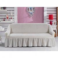 Чехол для трехместного дивана Arya Кремовый