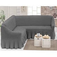 Чехол ViPro на угловой диван Серый