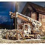 Пожарная Машина   UGEARS   Механический 3D конструктор из дерева, фото 4