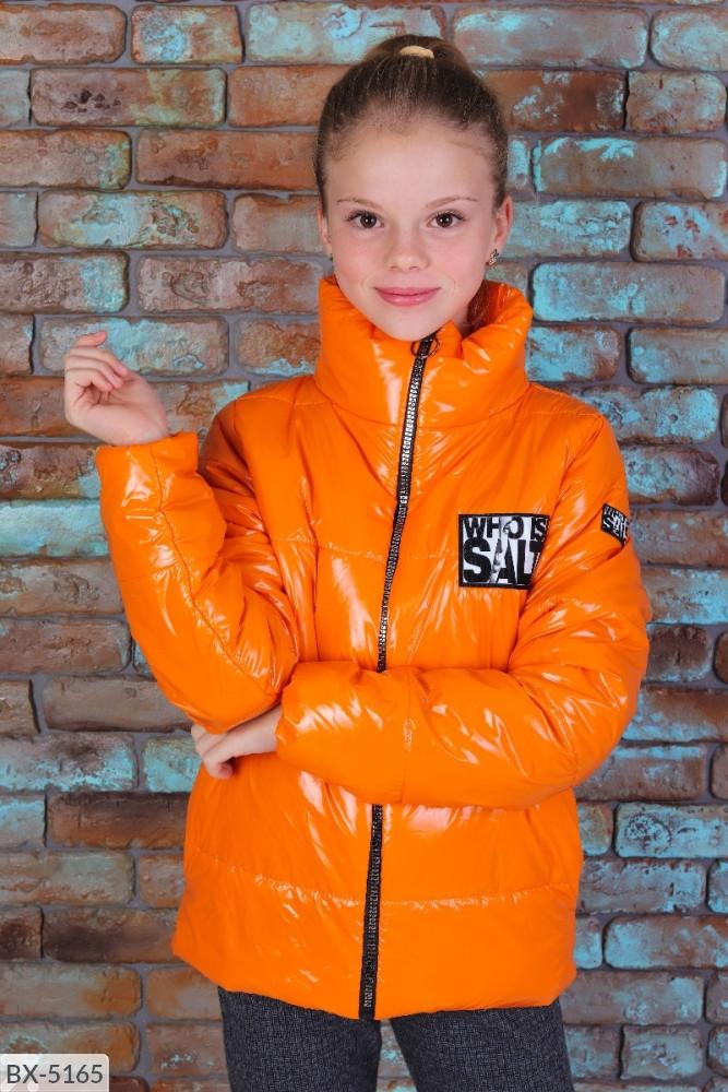 Детская стильная ветровка куртка на девочку на рост от 122 до 146 см