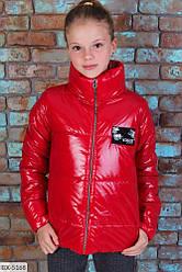 Дитяча стильна вітровка куртка на дівчинку на ріст від 122 до 146 см