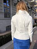 Белая кожаная куртка Турция, фото 8