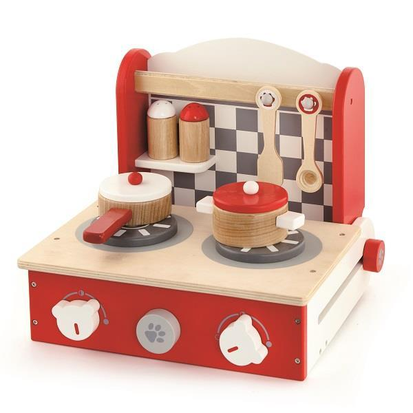 Дитяча плита Viga Toys з посудом, складна (50232VG)